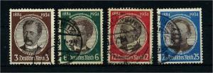 DEUTSCHES REICH 1934 Nr 540-543 gestempelt (113530)