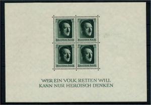 DEUTSCHES REICH 1937 Block 7 postfrisch (113580)