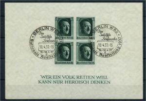 DEUTSCHES REICH 1936 Bl.8 gestempelt (113629)