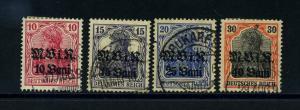 MV IN RUMAENIEN 1917 Nr 4-7 gestempelt (113810)