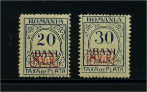 MV IN RUMAENIEN 1917 Nr P3+4 postfrisch (113819)