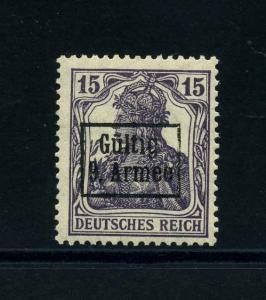 ETAPPE 9. ARMEE 1918 Nr 2 postfrisch (113820)
