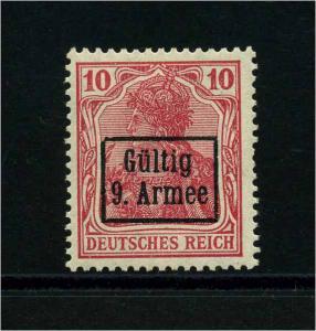 ETAPPE 9. ARMEE 1918 Nr 1 postfrisch (113821)