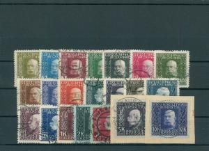 BOSNIEN+HERZEGOWINA 1912 Nr 64-84 gestempelt (200367)