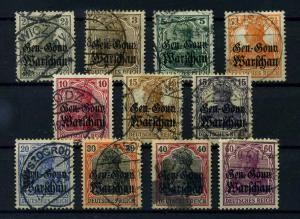 DP IN POLEN 1916 Nr 6-16 gestempelt (113858)