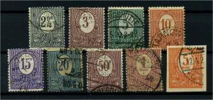 OBERSCHLESIEN 1920 Nr 1-9 gestempelt (113890)