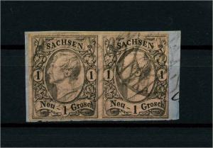 SACHSEN 1855 Nr 9 gestempelt (114024)