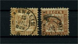 BADEN 1862 Nr 20a+ba gestempelt (114047)