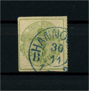 HANNOVER 1863 Nr 21 gestempelt (114068)