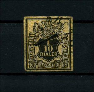 HANNOVER 1857 Nr 7 gestempelt (114153)