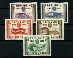 OESTERREICH 1955 Nr 1012-1016 postfrisch (114364)