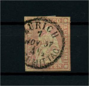 SCHWEIZ 1854 Nr 15II gestempelt (114370)