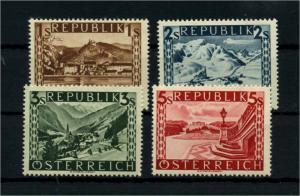 OESTERREICH 1945 Nr 767-770II postfrisch (114375)