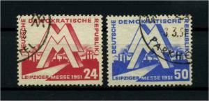DDR 1951 Nr 282-283 gestempelt (114608)