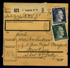 Paketkarte 1943 LEIPZIG siehe Beschreibung (114653)