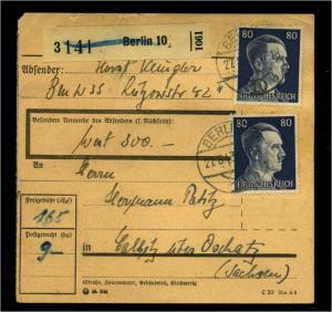 Paketkarte 1943 BERLIN siehe Beschreibung (114654)