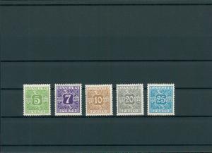DAENEMARK 1930 Nr P20-24 siehe Beschreibung (201169)