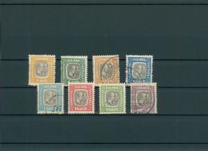 ISLAND 1907 Nr D24-31 siehe Beschreibung (201189)