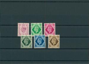 GROSSBRITANNIEN 1937 Nr 206-211 postfrisch (201441)