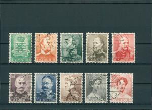LUXEMBURG 1939 Nr 321-330 gestempelt (201556)