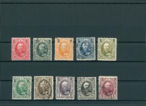 LUXEMBURG 1891 Nr D47-56 gestempelt (201558)