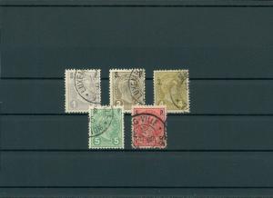 LUXEMBURG 1895 Nr D57-61 gestempelt (201560)
