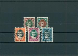 LUXEMBURG 1929 Nr 213-217 gestempelt (201568)