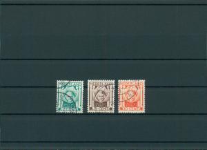 NIEDERLANDE 1924 Nr 143-145 gestempelt (201736)