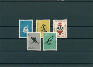 NIEDERLANDE 1956 Nr 678-682 postfrisch (201793)