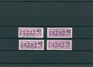 DDR 1956 Nr D6-9 gestempelt (201826)