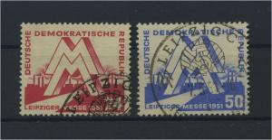 DDR 1951 Nr 282-283 gestempelt (115952)