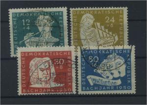 DDR 1950 Nr 256-259 gestempelt (115958)