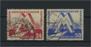 DDR 1951 Nr 282-283 gestempelt (115965)