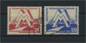 DDR 1951 Nr 282-283 gestempelt (115983)