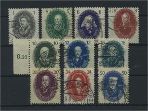 DDR 1950 Nr 261-270 gestempelt (116059)