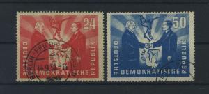 DDR 1951 Nr 284-285 gestempelt (116090)