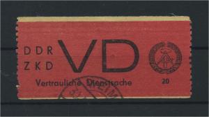 DDR ZKD 1965 Nr D1 gestempelt (116092)