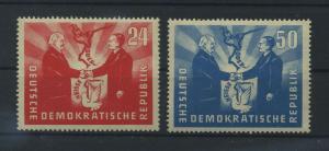 DDR 1951 Nr 284-285 postfrisch (116109)