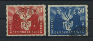 DDR 1951 Nr 284-285 gestempelt (116110)
