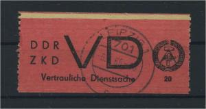 DDR ZKD 1965 Nr D1 gestempelt (116130)