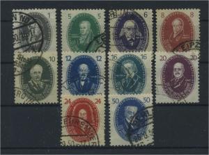 DDR 1950 Nr 261-270 gestempelt (116136)