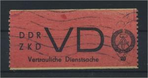 DDR ZKD 1965 Nr D1 gestempelt (116138)