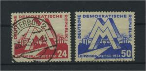 DDR 1951 Nr 282-283 gestempelt (116142)