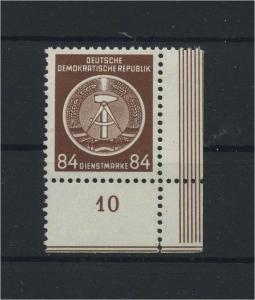 DDR 1954 Nr D17 postfrisch (116147)