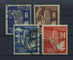 DDR 1950 Nr 276-279 gestempelt (116150)