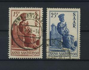 SAARLAND 1950 Nr 294-295 gestempelt (116194)