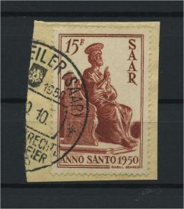 SAARLAND 1950 Nr 294 gestempelt (116200)