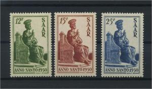 SAARLAND 1950 Nr 293-295 postfrisch (116215)