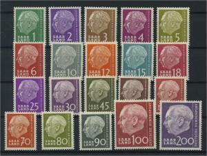 SAARLAND 1957 Nr 380-399 postfrisch (116240)