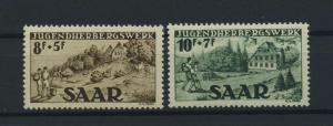 SAARLAND 1949 Nr 262-263 postfrisch (116241)
